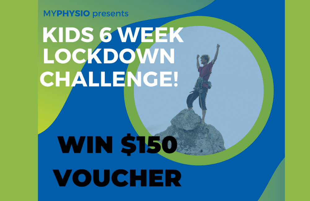 Time to stay FIT and ACTIVE during lockdown!  MyPhysio #kidslockdownlegends